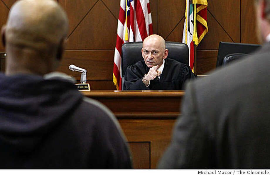 Judge Ronald Albers, handles cases, on Wednesday June 24, 2009, at the Community Justice Center,  in San Francisco, Calif., after  a new report prepared by a UC Berkeley PhD, was released stating that the majority of cases brought to Community Justice Center in the Tenderloin are  discharged. Photo: Michael Macor, The Chronicle