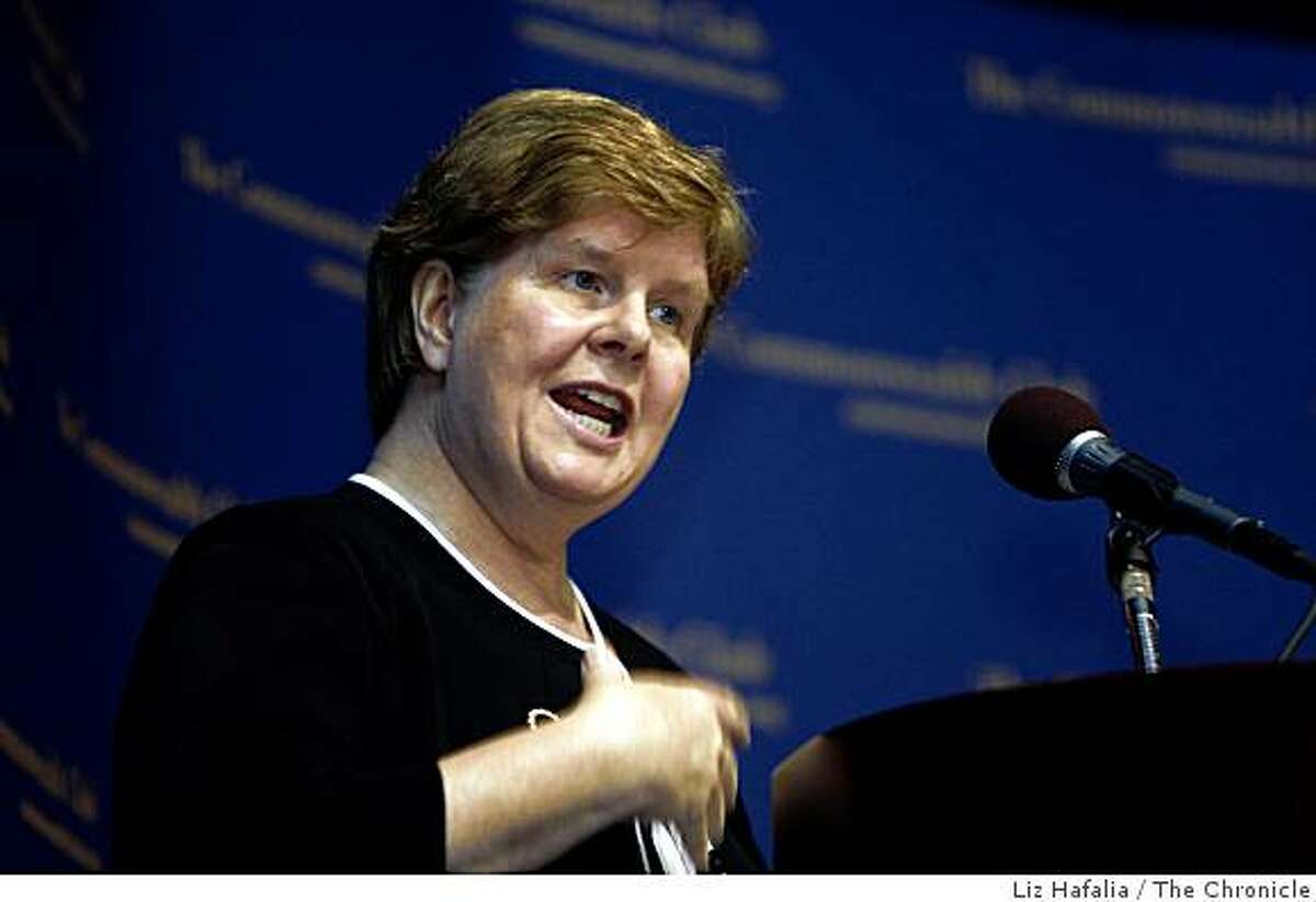 Christina Romer, chairperson of the President�s Council of Economic Advisers, speaks at the Commonwealth Club n San Francisco, Calif., on Monday, June 8, 2009.