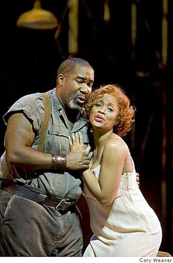"Eric Owens (Porgy) and Laquita Mitchell (Bess) in ""Porgy and Bess"" Photo: Cory Weaver"