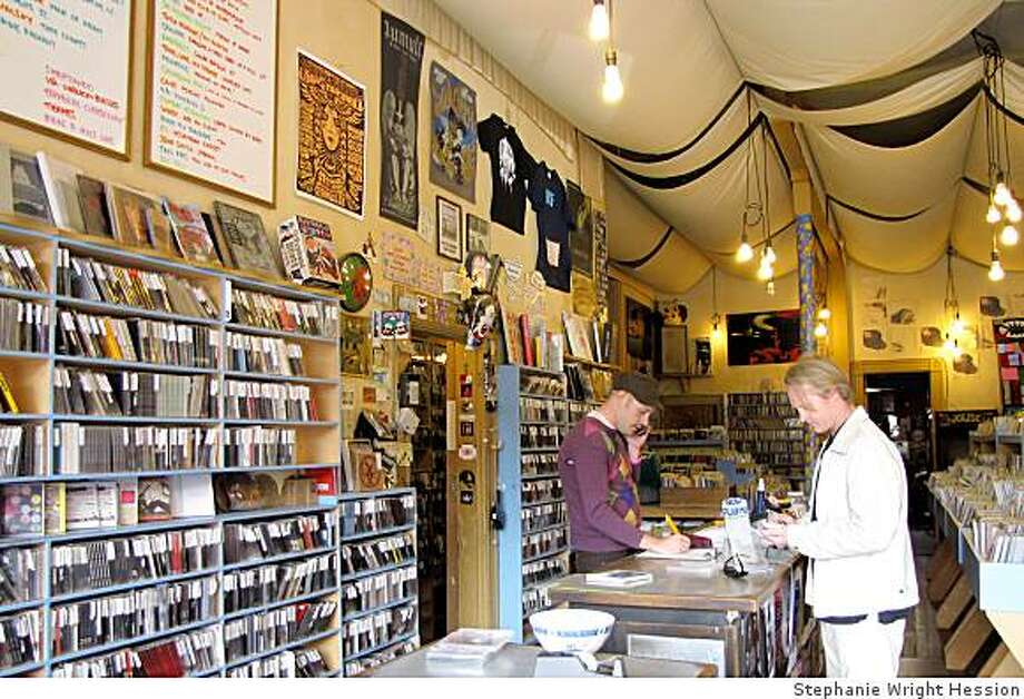 The granddaddy of all Bay Area record shops, Aquarius Records was the first of its kind in San Francisco when it opened in 1970. Now 44 years old, Aquarius specializes in unusual experimental music from across the globe. (1055 Valencia Street, San Francisco. http://www.aquariusrecords.org/) Photo: Stephanie Wright Hession