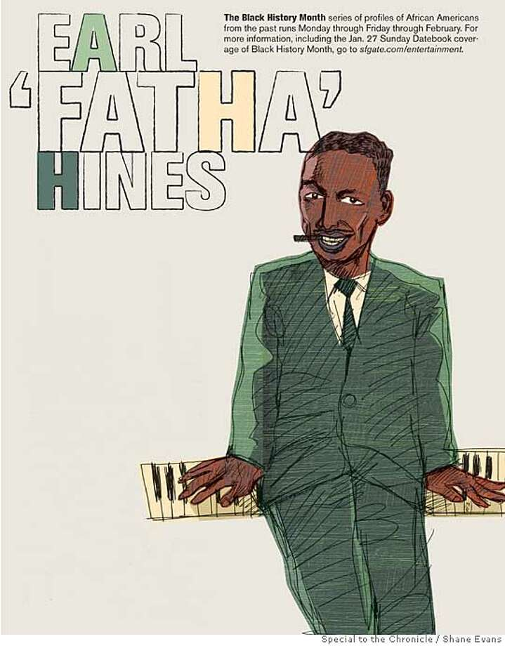 Earl 'Fatha' Hines. Illustration by Shane Evans, special to the Chronicle