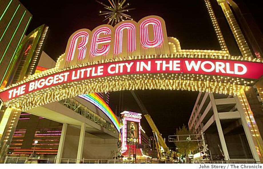 The Reno sign on Virginia Street with the Eldorado Hotel in the background. Photo: John Storey, The Chronicle