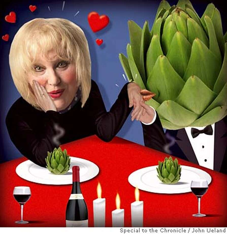 Illustration of Marlena and Artichoke for Valentine's Day column, 2.13.08 John Ueland / Special to the Chronicle Photo: John Ueland