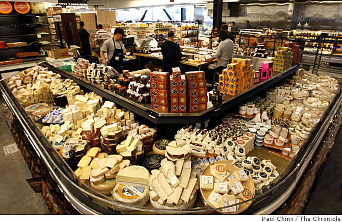 The cheese counter at the Berkeley Bowl West supermarket features a vast number of offerings in Berkeley, Calif., on Wednesday, June 3, 2009.