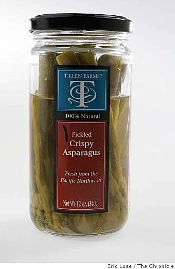 Pacific Northwest Tillen Farms pickled Asparagus.  Photographed on Wednesday, June 3, 2009. Photo: Eric Luse, The Chronicle