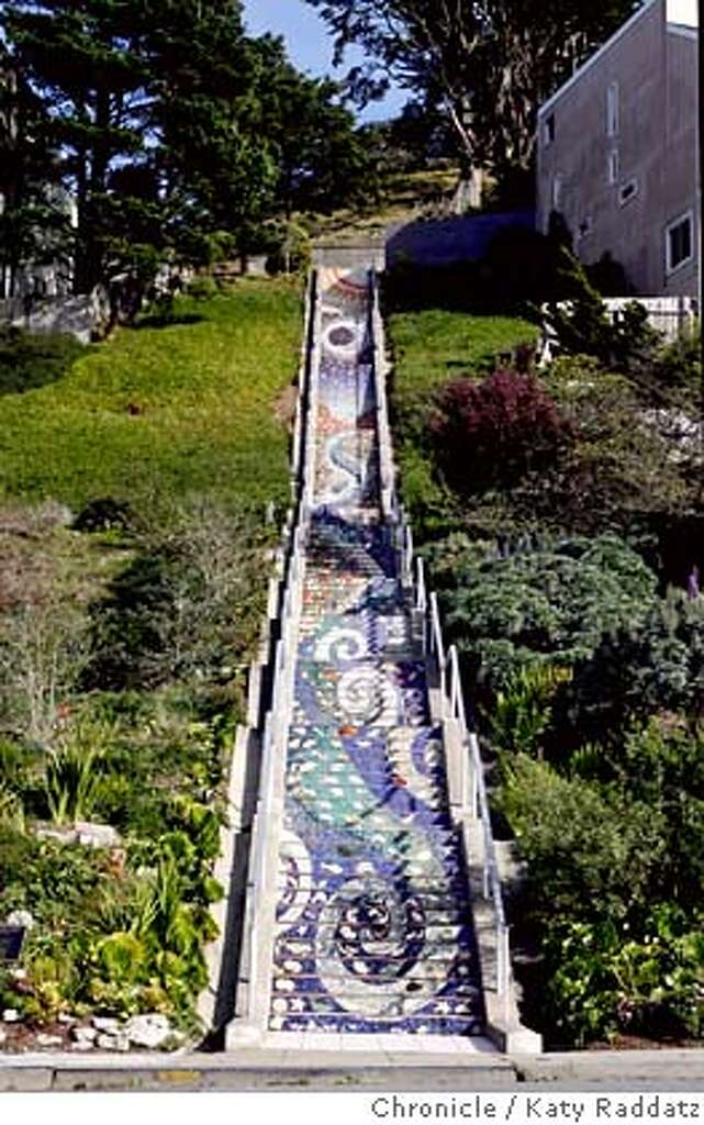 URBAN14 The Lovely Mosaic Staircase Which Begins On 16th Ave. And Moraga,  And Leads