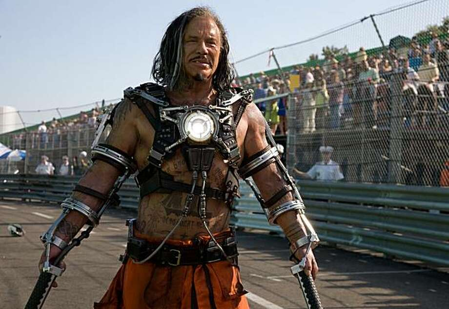 "In this image released by Paramount Pictures, Mickey Rourke is shown in character during the filming of ""Iron Man 2."" Photo: AP"