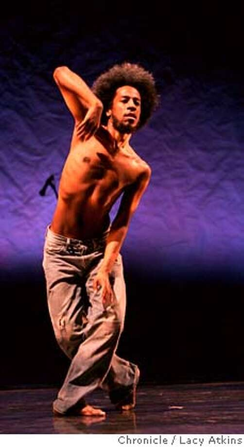 Choreographer Robert Henry Johnson rehearses his performance for the Festival, Thursday Feb. 8, 2006, in Oakland, Ca. The Black Choreographers Festival at the Malonga Casquelourd Theater, Feb. 9-11, in Oakland, Ca. (Lacy Atkins San Francisco Chronicle)  Ran on: 02-12-2007  Choreographer Robert Henry Johnson's fluid dancing cast an unbroken spell at the festival. 39926 Photo: Lacy Atkins