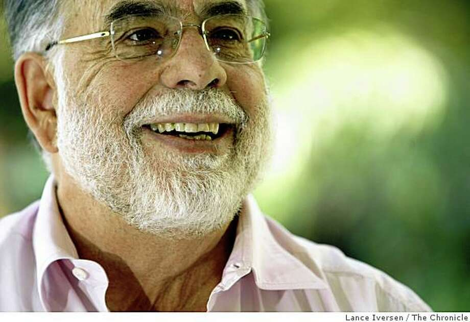 "Francis Ford Coppola photographed at his wine country estate Thursday June 11. 2009 has directed a new film ""TetroÓ that will be released June 19, 2009. Photo: Lance Iversen, The Chronicle"