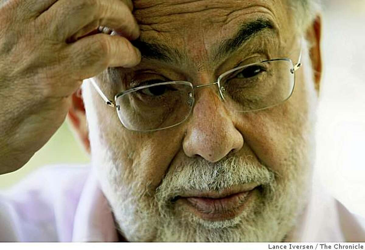 """Francis Ford Coppola photographed at his wine country estate Thursday June 11. 2009 has directed a new film """"Tetro?"""" that will be released June 19, 2009."""