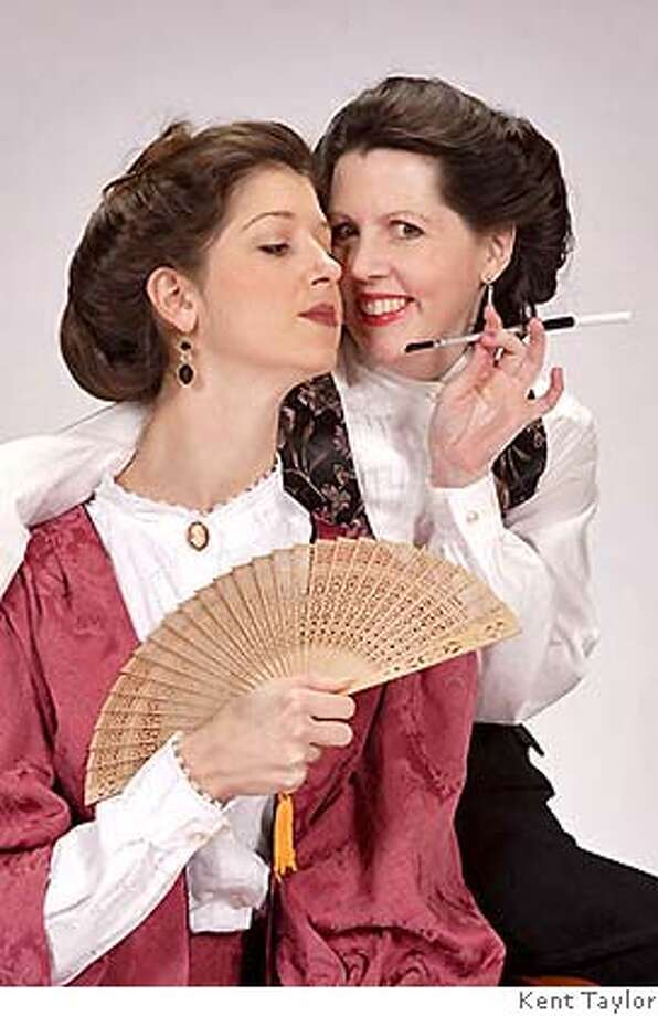"Alexandra Creighton (left) and Trish Tillman in the Bay Area premiere of David Mamet's ""Boston Marriage."" Photo by Kent Taylor"