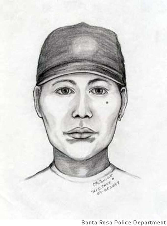 The suspect who attacked a Santa Rosa woman was described as a Filipino or Asian man in his early 30s, about 5 feet 7 with a slender build and crooked bottom teeth. Sketch courtesy of Santa Rosa Police Department