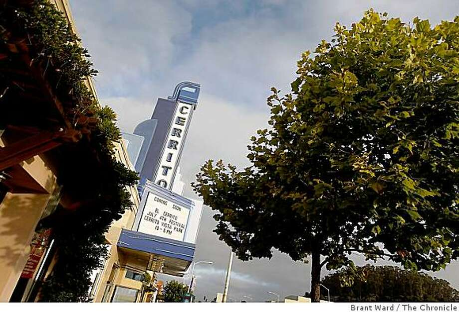 The Cerrito Speakeasy on tree lined San Pablo Avenue in El Cerrito. Two East Bay theatres, the Parkway and Cerrito Speakeasy, closed for a time, may reopen soon. Photo: Brant Ward, The Chronicle