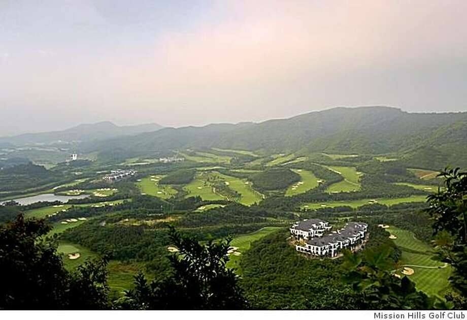 An aerial view of the Olazabal Course at Mission Hills. Photo: Mission Hills Golf Club