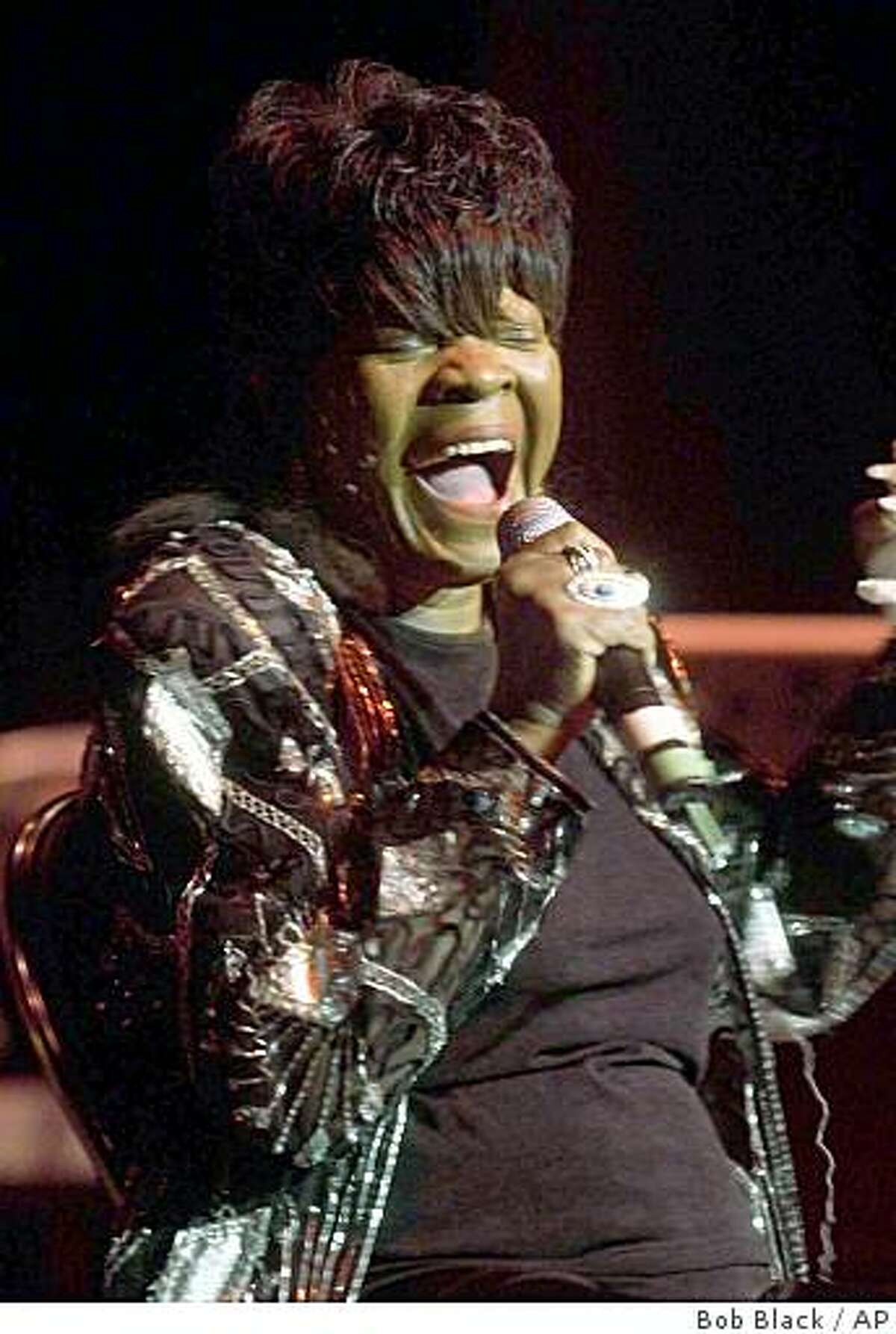 FILE - In this Jan. 16, 2005, file photo Koko Taylor sings at the Harold Washington Cultural Center in Chicago. Taylor, the Grammy-winning