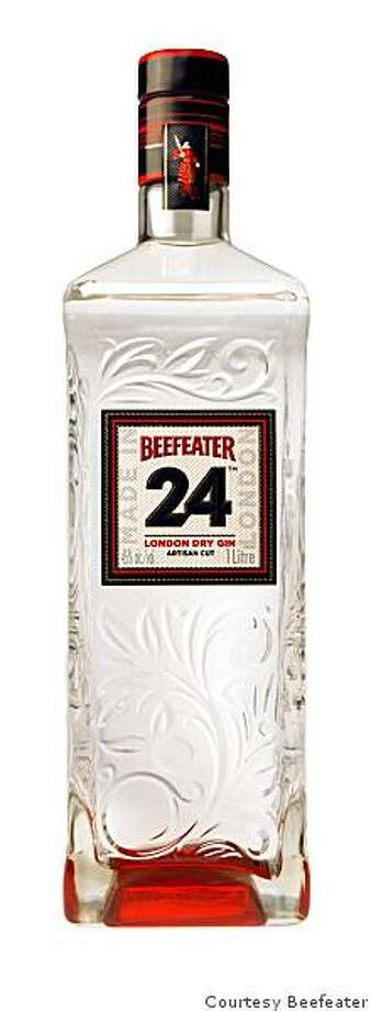 A bottle of Beefeater 24 gin, a newly released limited-run gin from Beefeater master distiller Desmond Payne. Photo: Courtesy Beefeater