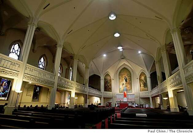 Old Saint Mary's Cathedral is seen before afternoon mass. Photo: Paul Chinn, The Chronicle
