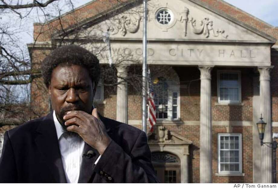 "** CORRECTING MAN'S FIRST NAME TO GERALD, NOT AS SENT **Gerald Thornton talks about his brother, Charles Lee ""Cookie"" Thornton, outside Kirkwood City Hall Friday, Feb. 8, 2008, in Kirkwood, Mo. According to witnesses Charles Thornton opened fire at a meeting of the Kirkwood City Council in suburban St. Louis Thursday night, killing five people before being shot and killed by police. (AP Photo/Tom Gannam) Photo: Tom Gannam"