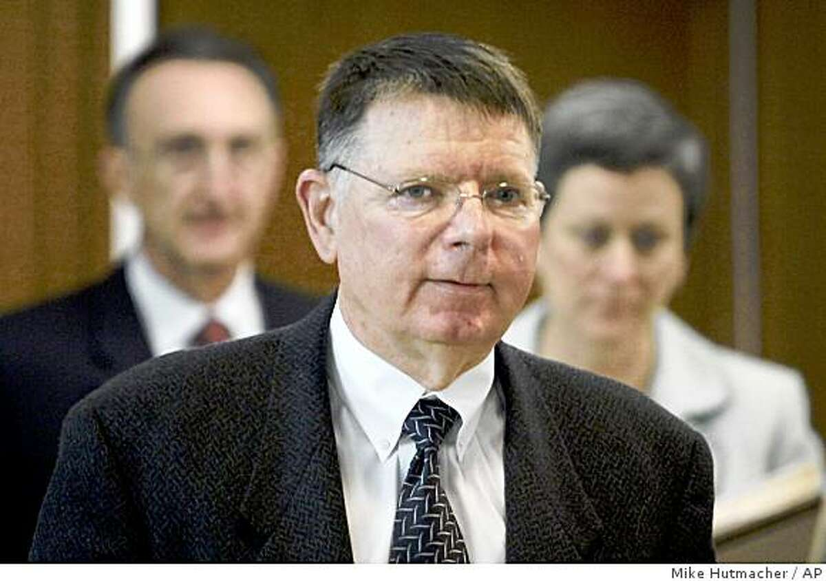 FILE - In this March 23, 2009 file photo Dr. George TIller, enters the courtroom on the first day of his jury trial in Wichita, Kan. Tiller was shot and killed as he entered his church Sunday morning May 31, 2009 in Wichita. (AP Photo/The Wichita Eagle, Mike Hutmacher, File) NO MAGS NO SALES