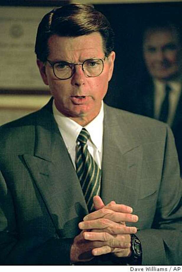 In this 1994 photo, Dr. George Tiller speaks during a news conference in Wichita, Kan. Tiller, one of the nation's few providers of late-term abortions despite decades of protests and attacks, was shot and killed Sunday May 31, 2009  in a church where he was serving as an usher.  (AP Photo/The Wichita Eagle, Dave Williams) ** NO MAGS NO SALES  ** Photo: Dave Williams, AP