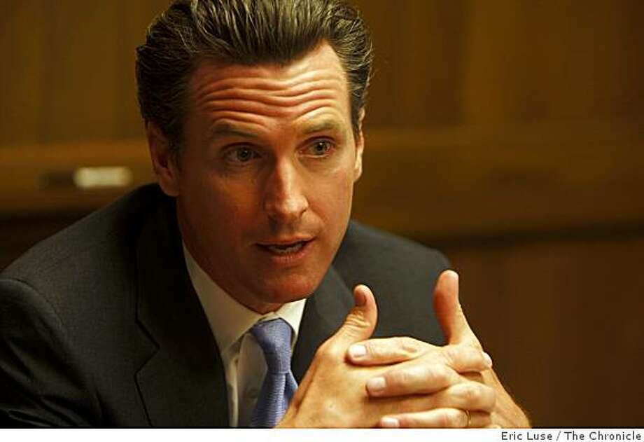 Mayor Gavin Newsom at the San Francisco Chronicle Editorial meeting discussing the budget photographed on Monday, June 01, 2009. Photo: Eric Luse, The Chronicle
