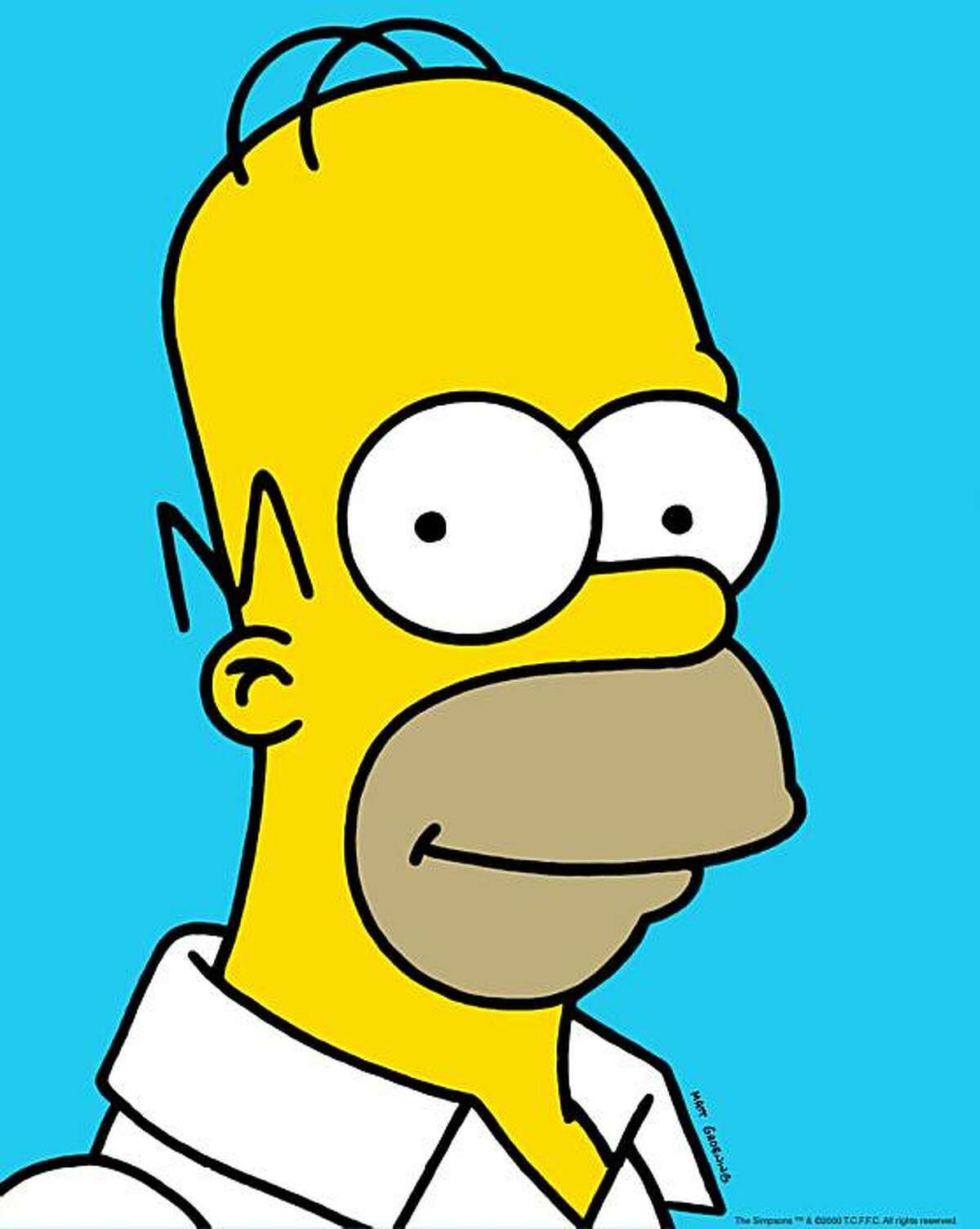 This file photo supplied by Fox Broadcasting shows Homer Simpson.