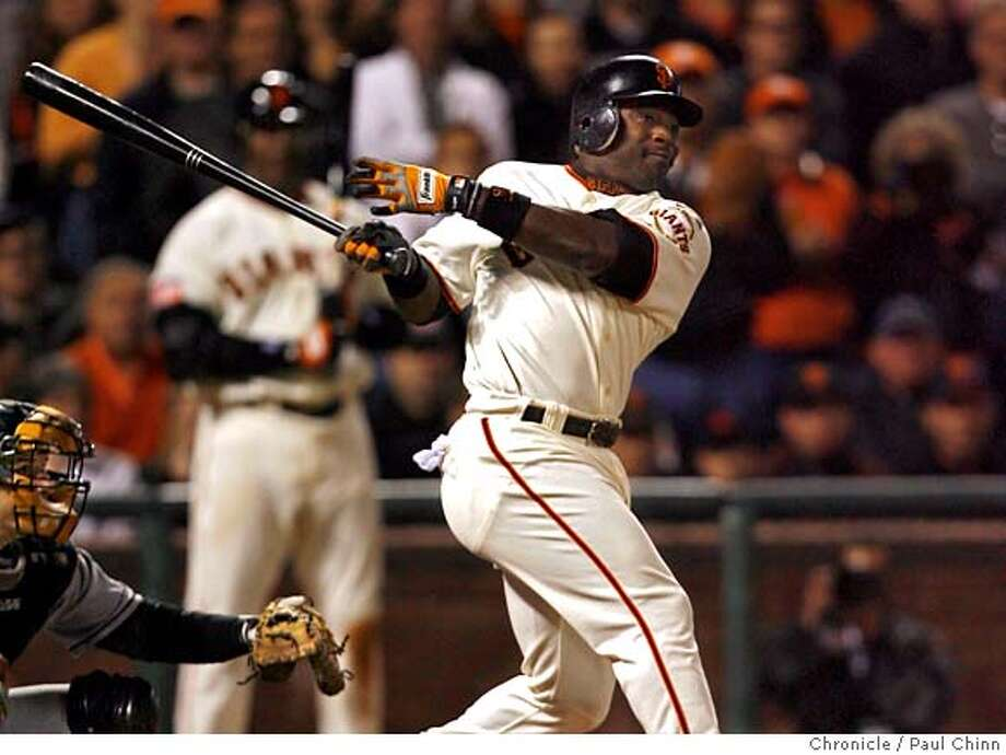 GIANTS29_pc_014.JPG  Ray Durham slaps the game-winning hit to right field to score Fred Lewis in the bottom of the ninth inning. Giants win 4-3. Florida Marlins play the San Francisco Giants at AT&T Park in San Francisco, CA, on Saturday, July, 28 2007. Paul Chinn / The Chronicle ** (cq) MANDATORY CREDIT FOR PHOTOG AND SF CHRONICLE/NO SALES-MAGS OUT Photo: Paul Chinn