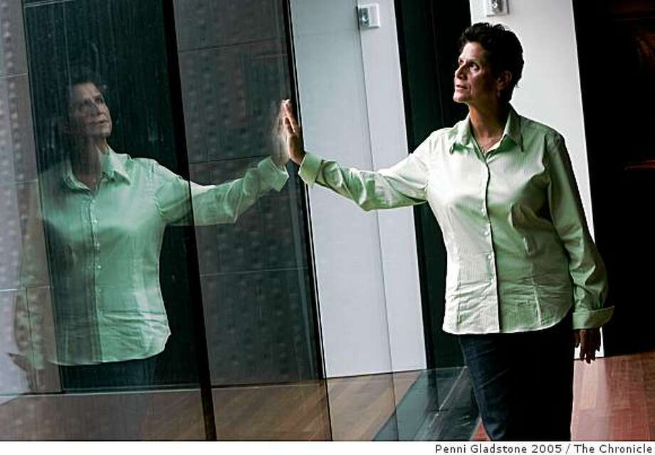Catherine Wagner is the artist who did the installation in the Connections Gallery at the De Young Museum, Golden Gate Park San Francisco Chronicle, Penni Gladstone Photo taken on 9/20/05, in San Francisco, Photo: Penni Gladstone 2005, The Chronicle