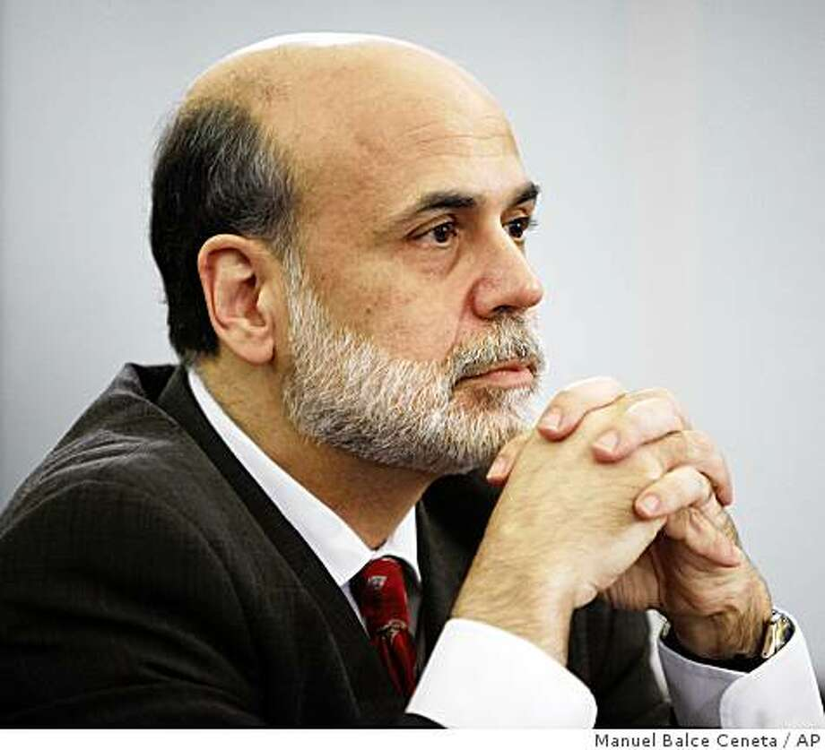 Federal Reserve Chairman Ben Bernanke testifies on Capitol Hill in Washington, Wednesday, June 3, 2009, before the House Budget Committee. (AP Photo/Manuel Balce Ceneta) Photo: Manuel Balce Ceneta, AP