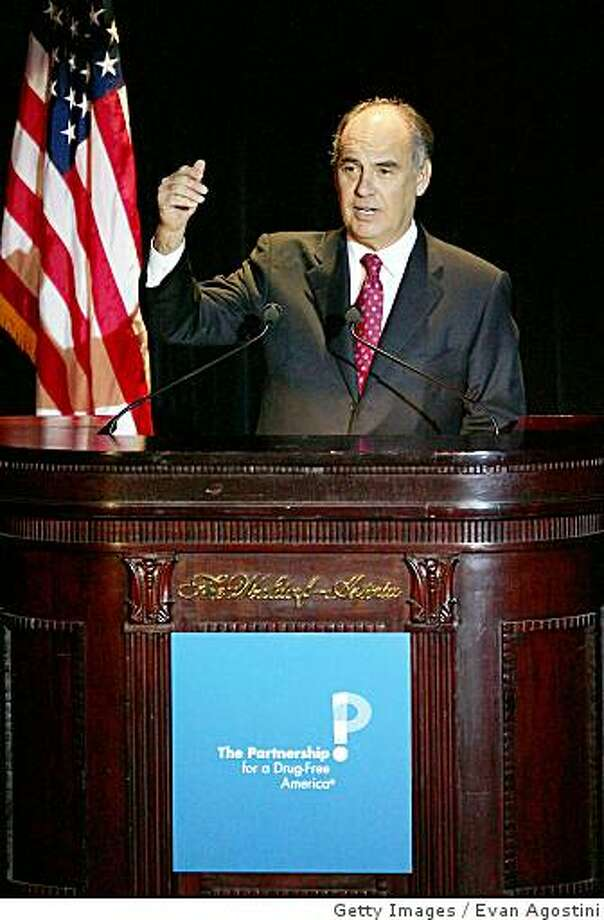 NEW YORK - NOVEMBER 29:  The Partnership for a Drug-Free America Chairman Roy Bostock speaks at the Partnership for a Drug-Free America 'Making A Difference Gala' at the Waldorf-Astoria, November 29, 2004 in New York City. (Photo by Evan Agostini/Getty Images) Photo: Evan Agostini, Getty Images