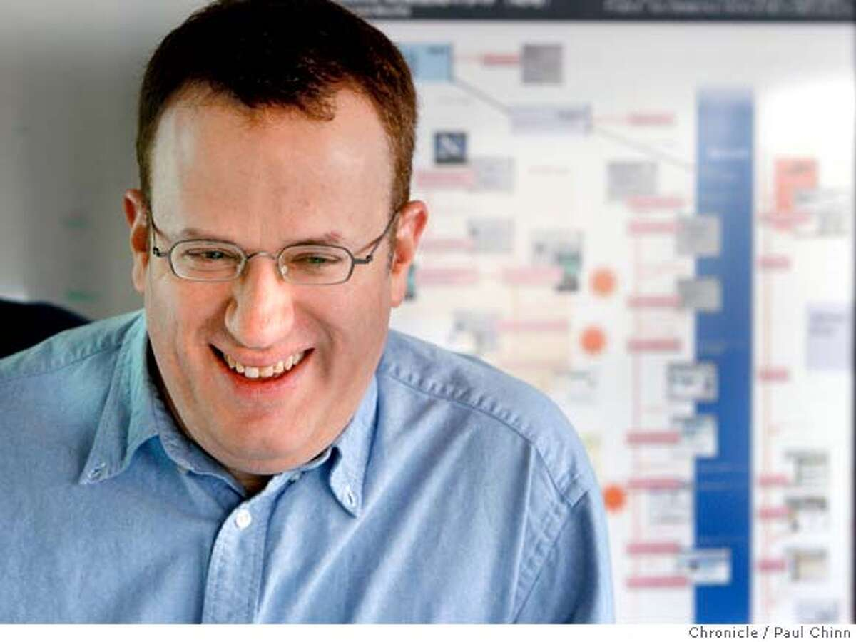 Brendan Eich, chief technical officer for Mozilla Corp., described his company's creation of its popular Firefox web browser in Mountain View, Calif. on Wednesday, Jan. 23, 2008. Mozilla is a byproduct of the old Netscape navigator which is where Eich got his start.