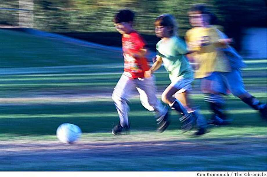 Soccer tops the list of how to spend an hour for at least one Austin Creek fourth-grader. Other favorites include shopping and reading Shel Silverstein. Photo: Kim Komenich, The Chronicle