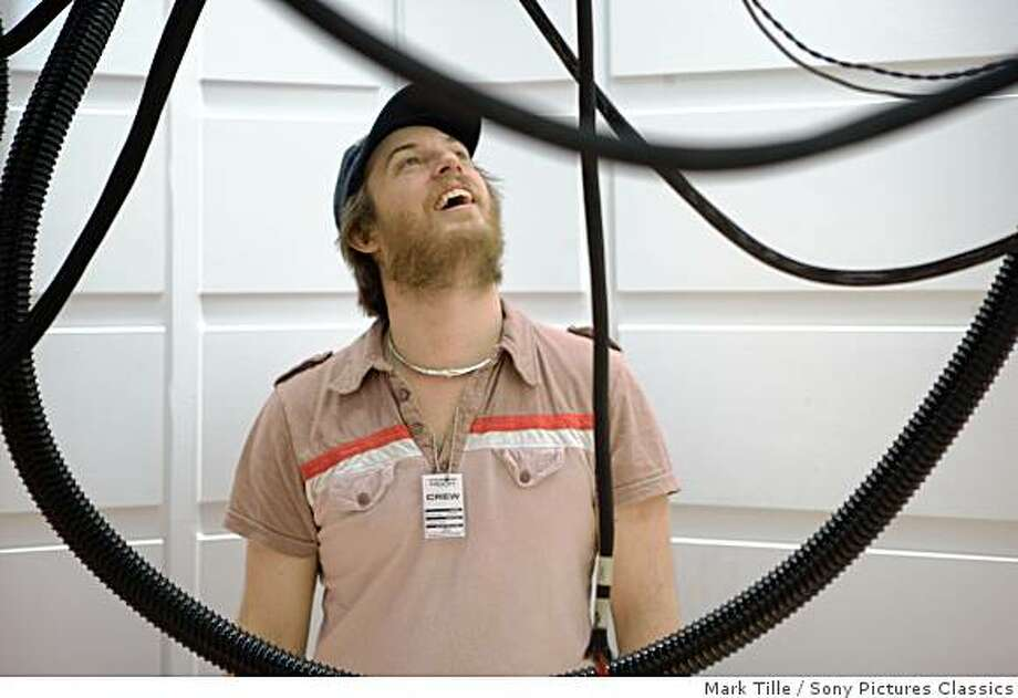 """Director Duncan Jones on the set of  """"Moon."""" Photo: Mark Tille, Sony Pictures Classics"""