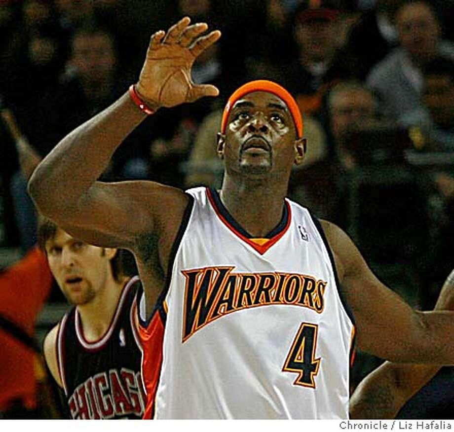 Golden State Warriors vs. Chicago Bulls at the Oracle arena.  Chris Webber returns to the Warriors. Photo: Liz Hafalia