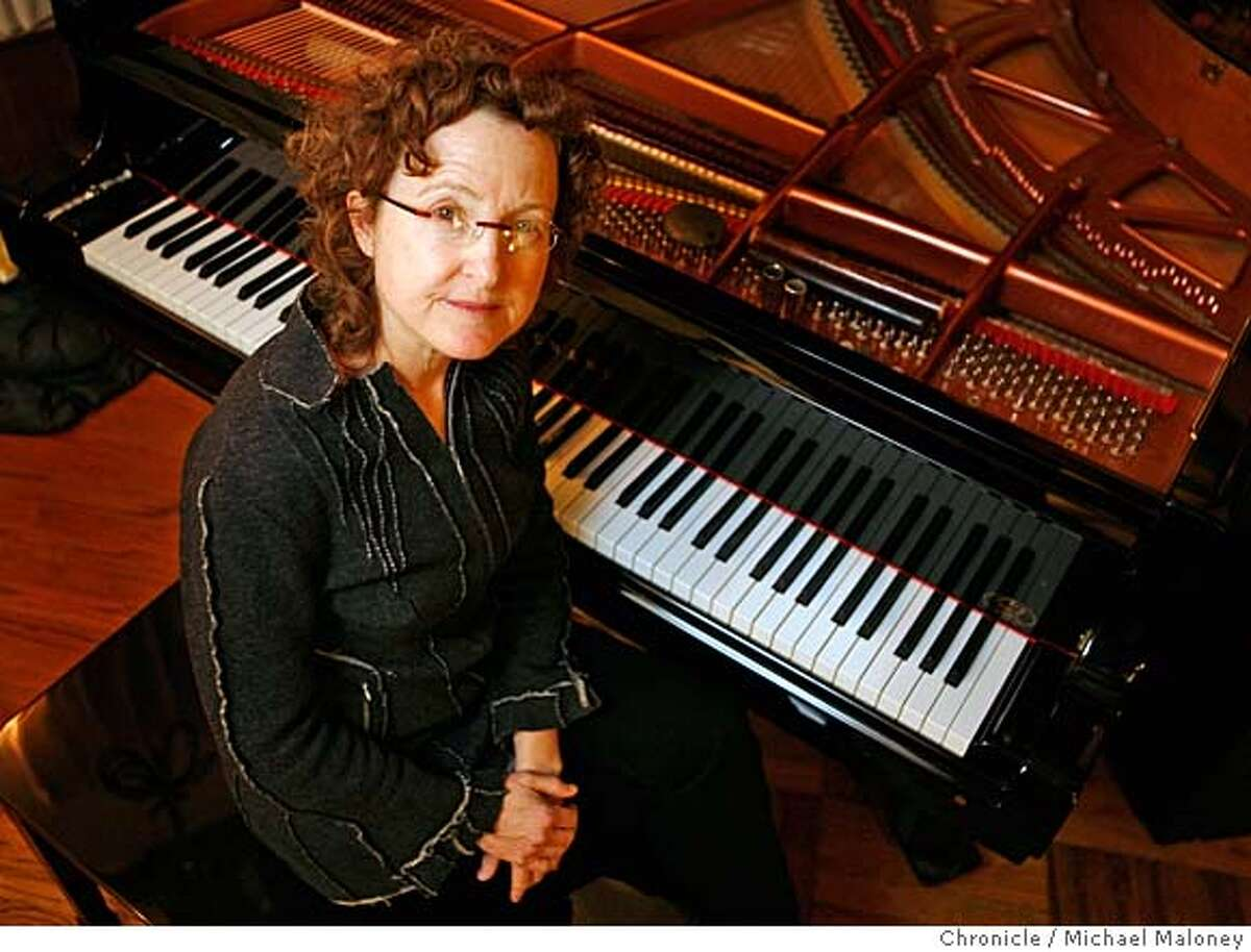 Jazz pianist and composer Myra Melford performed with a quartet Monday, 12-10-2007 at the Center for New Music and Audio Technology in Berkeley, CA. Performing with her were Frank Gratkowski (woodwinds), Nils Bultman (violin), and Daniel Wessel (live electronics). Photo by Michael Maloney / San Francisco Chronicle ***Myra Melford, Frank Gratkowski, Nils Bultman,Daniel Wessel MANDATORY CREDIT FOR PHOTOG AND SF CHRONICLE/NO SALES-MAGS OUT