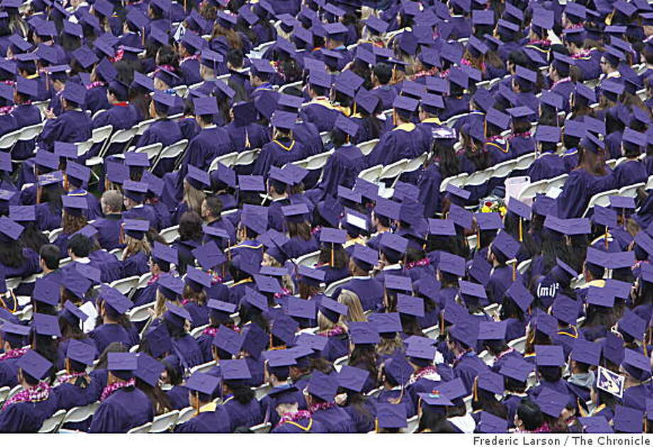 The 2009 graduating class at San Francisco State University was the biggest ever class at SF State to received diploma's, May 23, 2009. Photo: Frederic Larson, The Chronicle