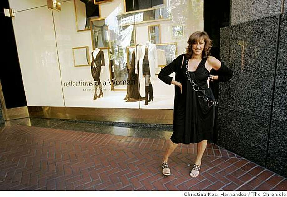 NY designer Donna Karan, one of fashion's more enduring stars , since 1986, poses in front of Nordstrom windows that preview her new fall line. In June 2009, she appeared at Neiman Marcus to promote her Fall 2009 line. Photo: Christina Koci Hernandez, The Chronicle