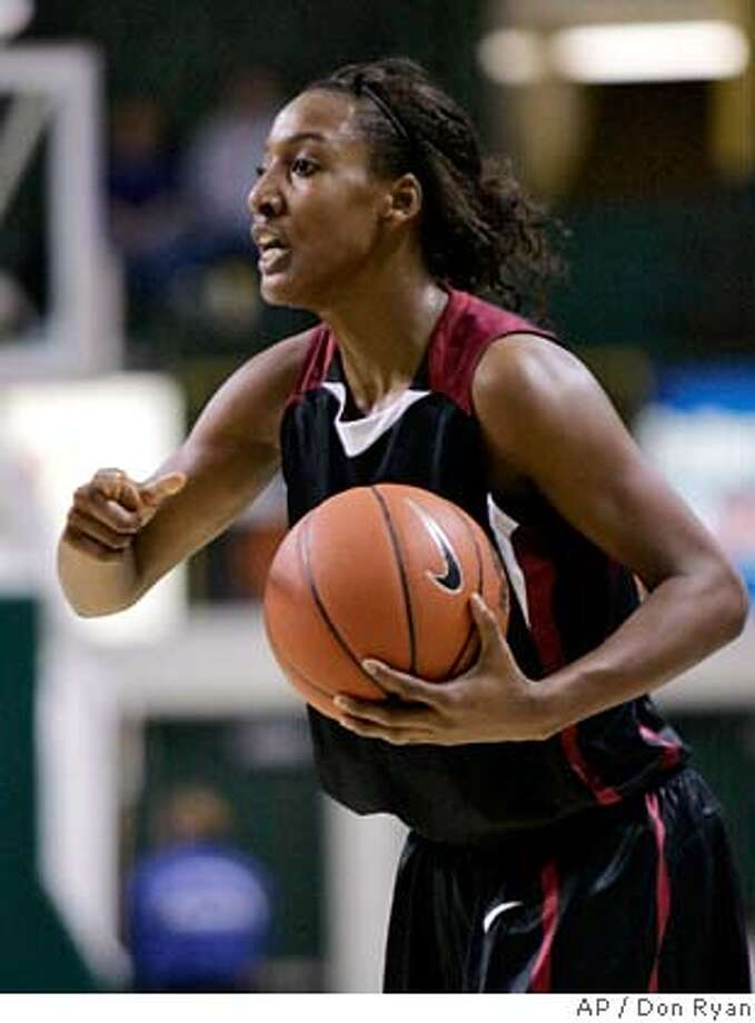 Stanford guard Candice Wiggins gives direction to fellow players during first half women's college basketball action against Oregon in Eugene, Ore., Thursday, Feb. 7, 2008. (AP Photo/Don Ryan) EFE OUT Photo: Don Ryan