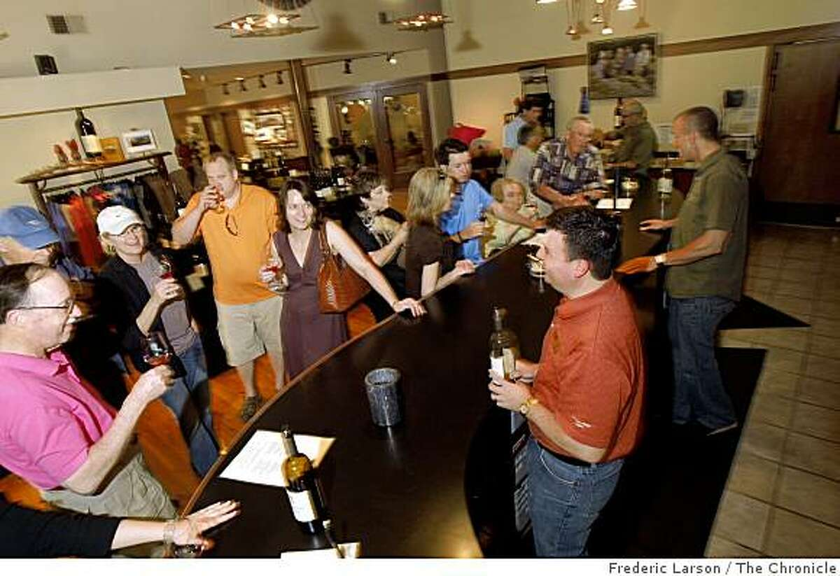 Matanzas Creek Winery in Santa Rosa California tasting room filled with people