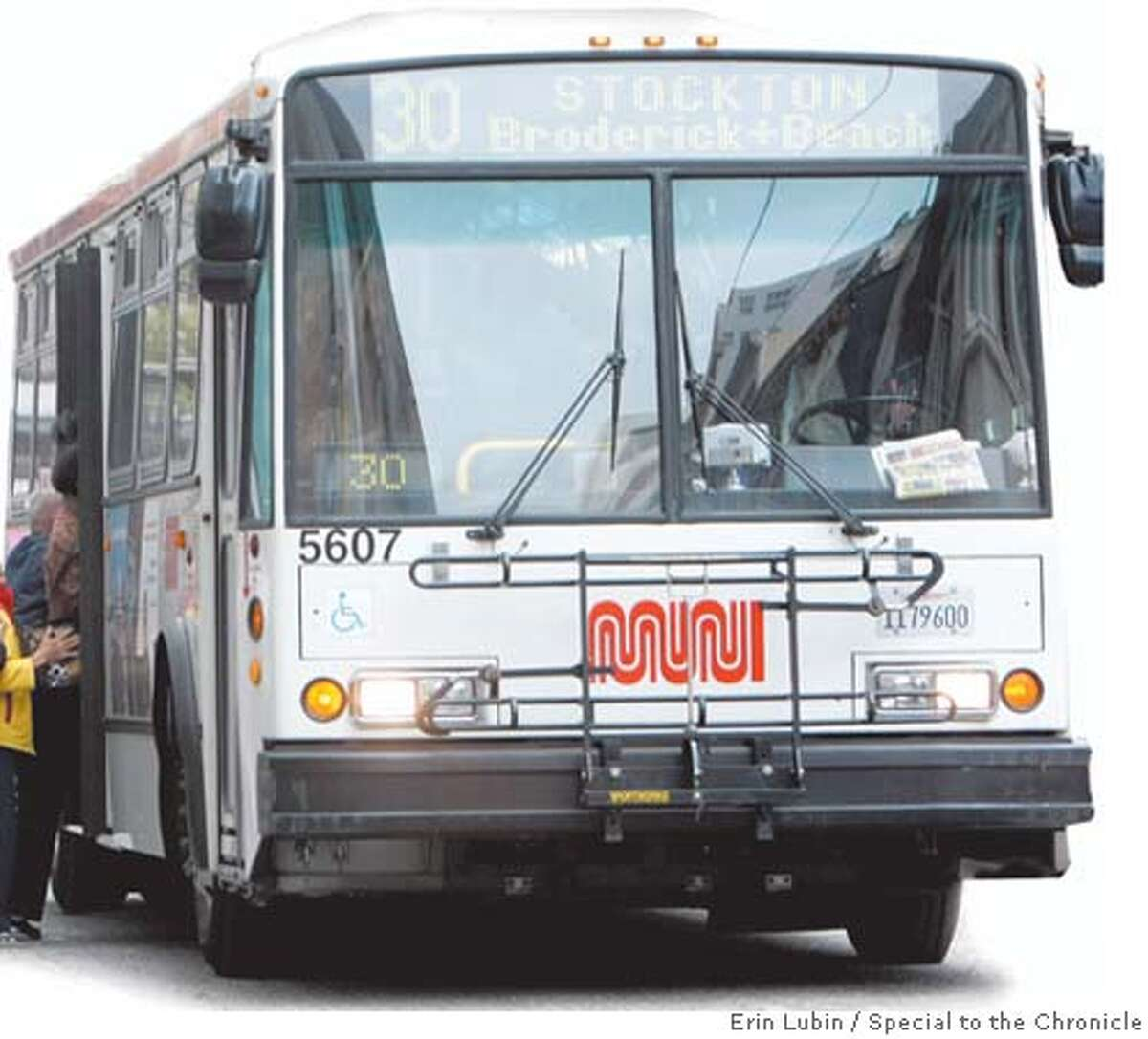 Mayor Newsom has abandoned his idea to eliminate fares on Muni. Photo by Erin Lubin, special to the Chronicle
