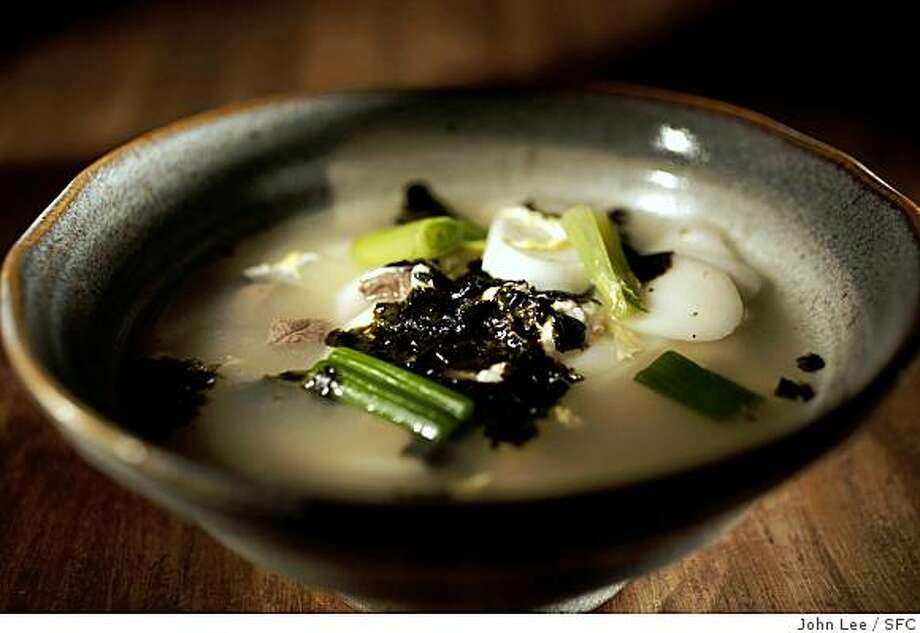 LUNARYEAR06_02_JOHNLEE.JPG SAN FRANCISCO, CALIF - JAN 17:  Korean Rice Cake Soup for Cindy Lee's Lunar New Year story.By JOHN LEE/SPECIAL TO THE CHRONICLE Photo: John Lee, SFC