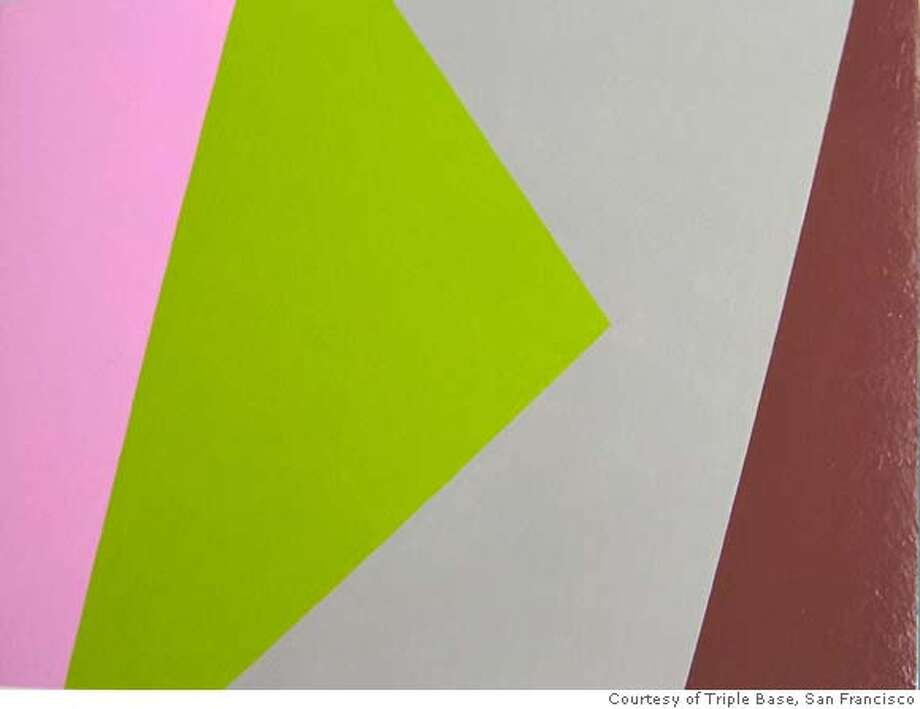 "Diagonals II"" (2007) gloss enamel on Masonite by Peter Stegall 8"" x 11"" Courtesy of Triple Base, San Francisco Photo: Ho"