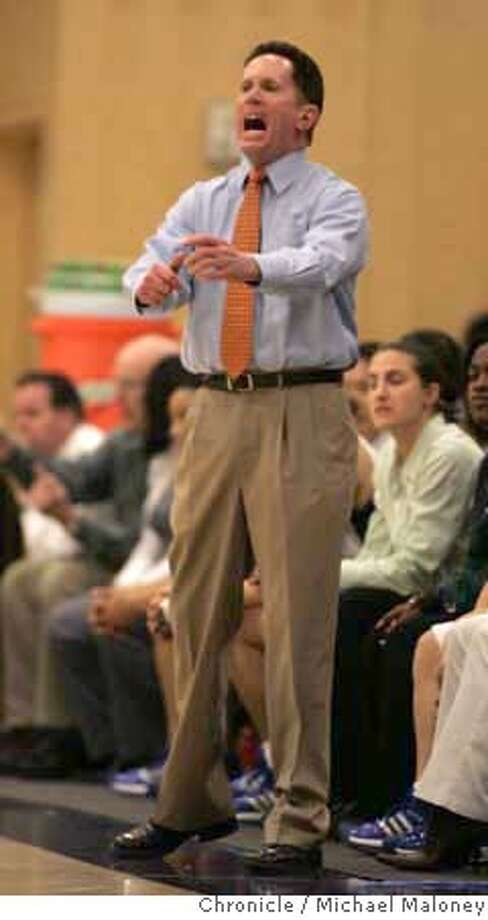 Sacred Heart Cathedral's head coach Brian Harrigan.  St Ignatius Wildcats vs Sacred Heart Cathedral Fightin' Irish girls varsity basketball game at Sacred Heart Cathedral High School in San Francisco.  Photo taken on 1/30/07 by Michael Maloney / San Francisco Chronicle MANDATORY CREDIT FOR PHOTOG AND SF CHRONICLE/NO SALES-MAGS OUT Photo: Michael Maloney