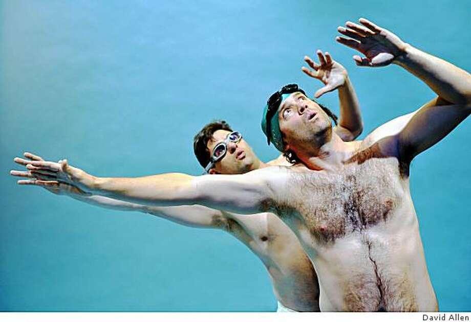 "Gabriel Marin (left) and Danny Wolohan in Aurora Theatre Company's Bay Area premiere of ""Jack Goes Boating,"" June 12-19, 209, Berkeley. Photo: David Allen"