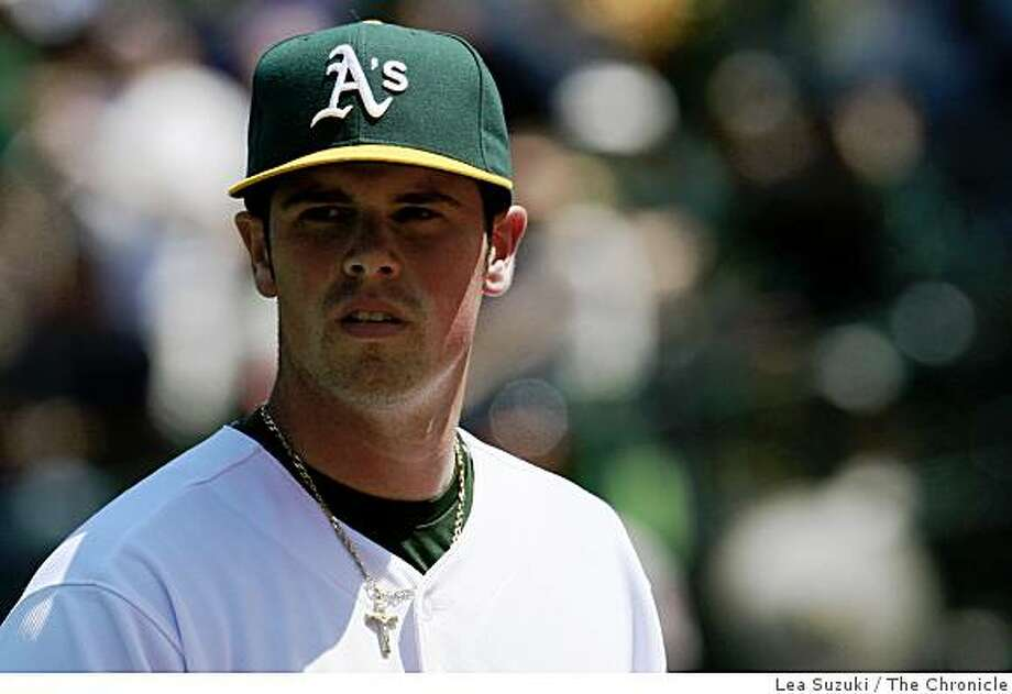 Vin Mazzaro was the starting pitcher for the Athletics during the Oakland Athletics vs. Baltimore Orioles game in Oakland, Calif. on Sunday, June 7, 2009.  Final Score: Athletics: 3 - Orioles: 0. Photo: Lea Suzuki, The Chronicle