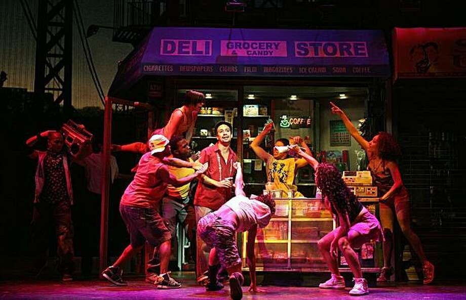 """In the Heights,"" a hip-hop- and salsa-flavored musical about a gentrifying Latino community, is one of the many cultural delights awaiting visitors to New York. Photo: Joan Marcus, THE WASHINGTON POST"