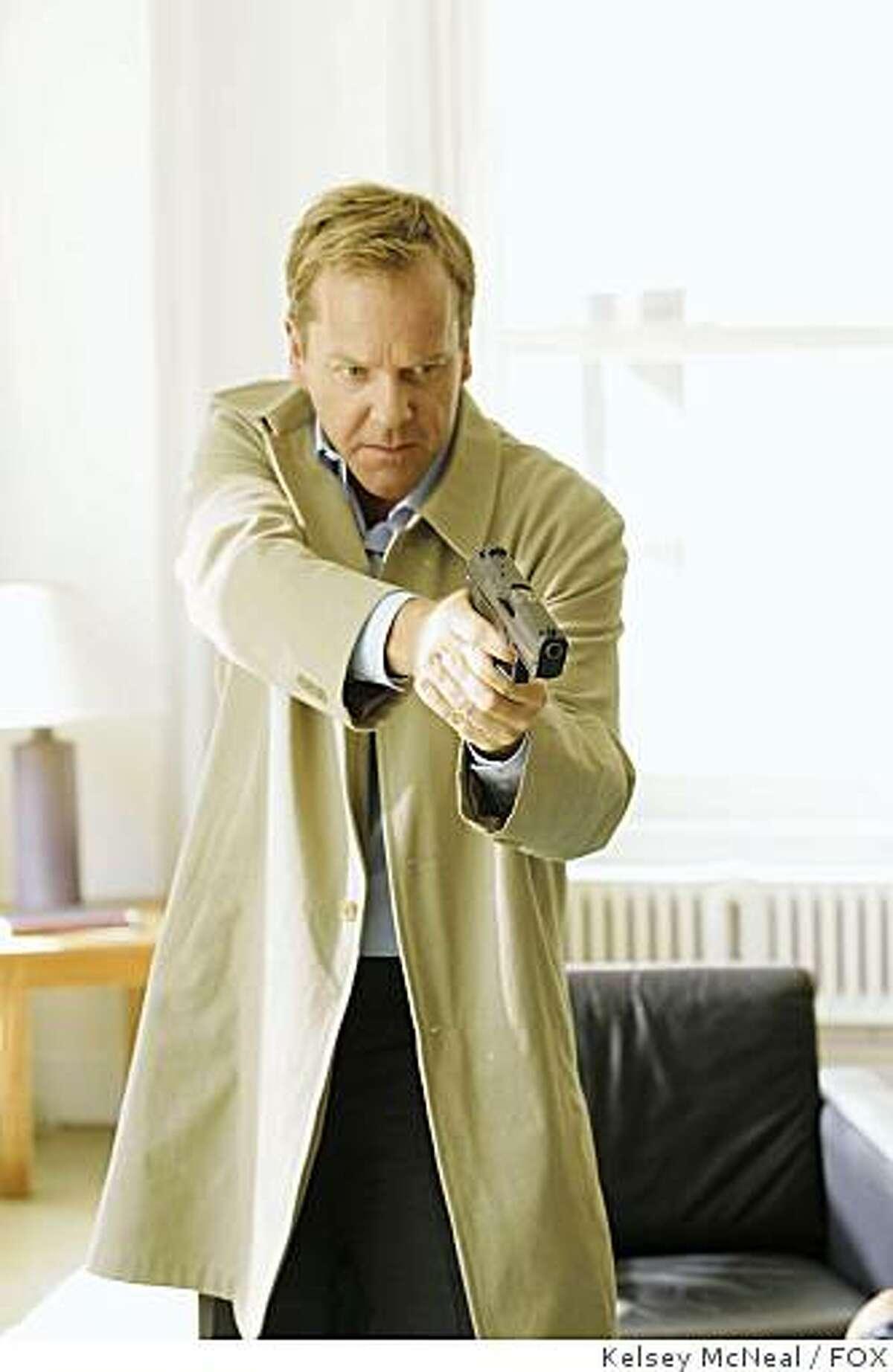 24: Kiefer Sutherland as Jack Bauer in Season Seven of 24 on FOX.