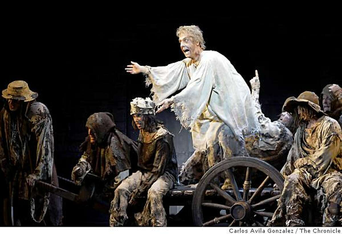 """Christopher Sutton as """"Not Dead Fred"""" in Spamalot. Best of Broadway's """"Spamalot,"""" starring John O'Hurley. This is one of the big Best of Broadway shows of the year, Broadway hit Monty Python piece."""