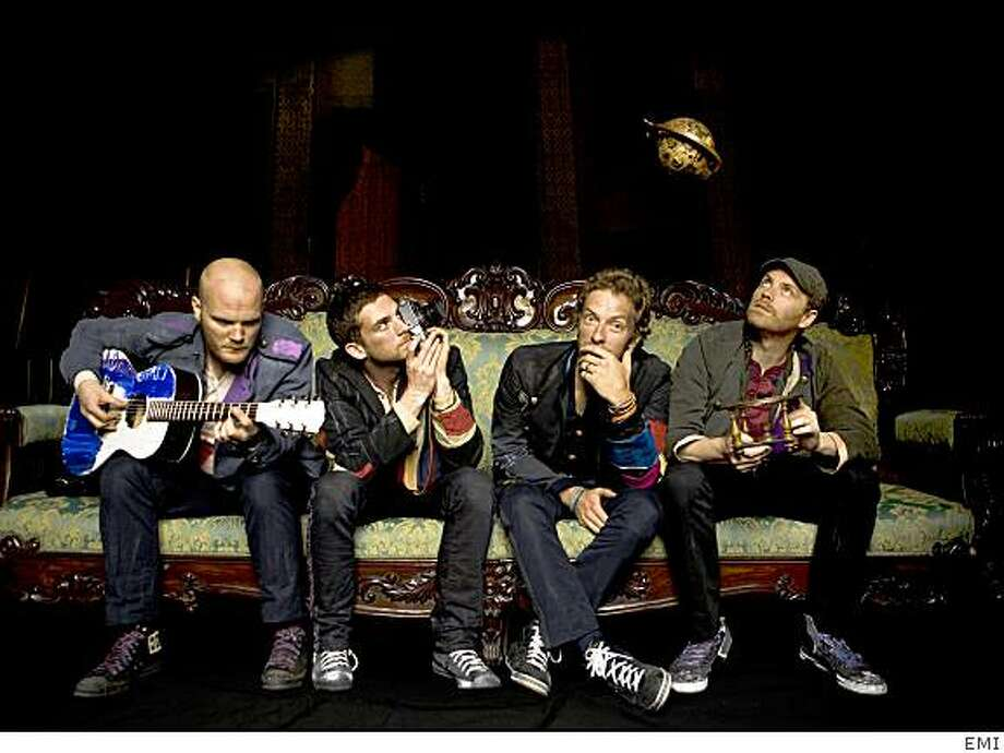 "Coldplay is giving away free copies of a new live album, ?LeftRightLeftRightLeft,"" at its summer concerts. Photo: EMI"