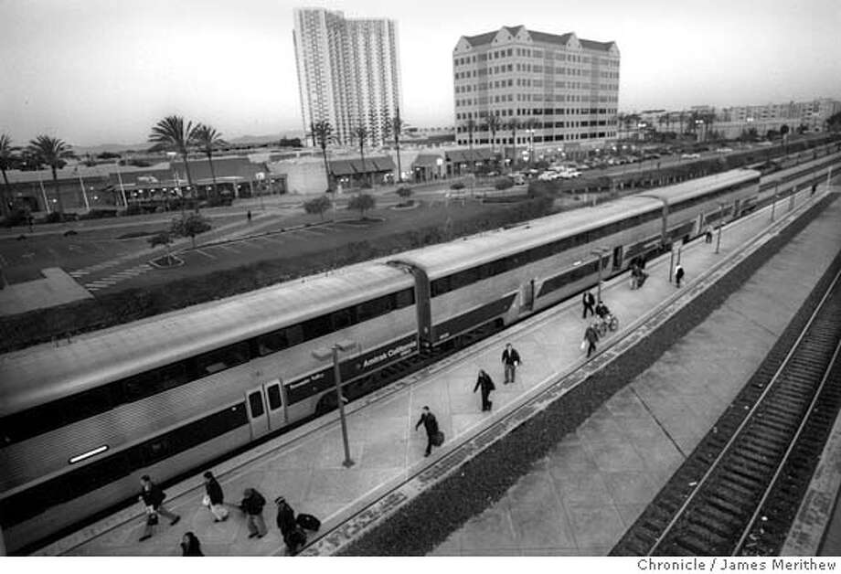 The Capitol Corridor train leaves Emeryville every morning at 6:40am and arrives Sacramento 8:25am. Amtrak has run the Capitol Corridor train for the last 10 years and they estimate 80 daily commuters take the train leaving Emeryville. Jim Merithew/San Francisco Chronicle  December 11, 2007 Photo: Jim Merithew